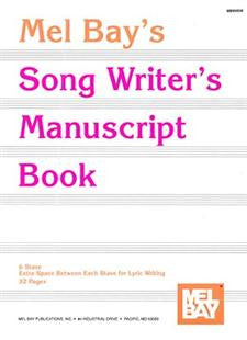 Song Writer's Manuscript Book 6 stave 32 pages