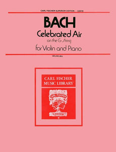 Bach - 'Celebrated' Air On The G String from Orchestral Suite No. 3 - arr. August Wilhelmj ed. George Perlman - Violin & Piano