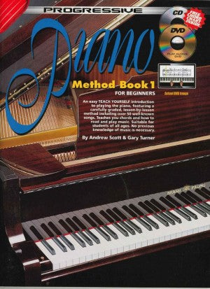 Turner, Gary / Scott, Andrew - Progressive Piano Method, Book 1 - Piano Method Series w/Audio Access