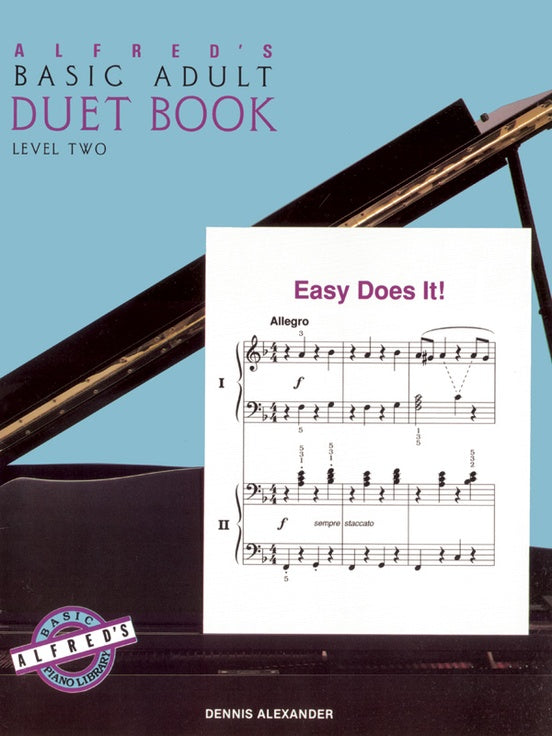 Alfred's Basic Adult Piano Course - Duet Book Level 2 - Piano Duet (1 Piano 4 Hands)