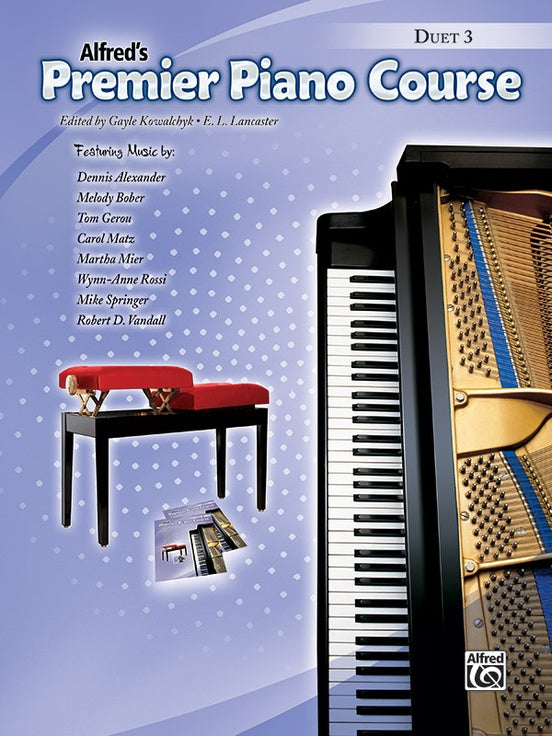 Alfred's Premier Piano Course - Duet 3 - Intermediate - Piano Duet (1 Piano 4 Hands)