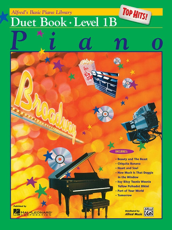 Alfred's Basic Piano Library - Top Hits! Duet Book 1B - Piano Duet (1 Piano 4 Hands)