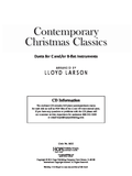 Contemporary Christmas Classics, Duets for C and/or Bb Instruments arr. Lloyd Larson Bk/CD