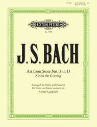 Bach - Air On The G String from Orchestral Suite No. 3 in D arr. Arthur Campbell - Violin & Piano
