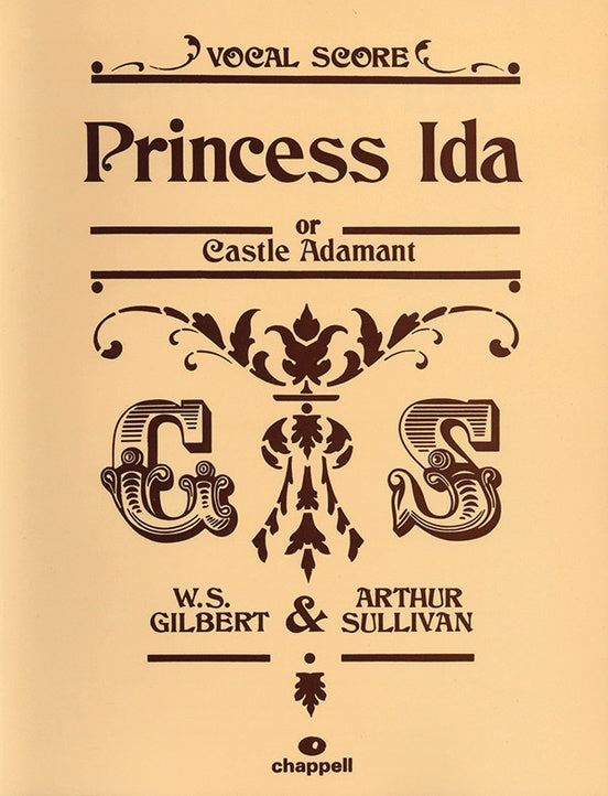 Gilbert & Sullivan - Princess Ida or Castle Adament - Opera Vocal Score (English)