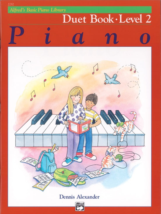 Alfred's Basic Piano Library - Duet Book Level 2 - Piano Duet (1 Piano 4 Hands)