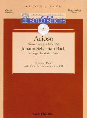 Bach - Arioso in G Major from Cantata No. 156 arr. Merle J. Isaac - Cello & Piano w/CD