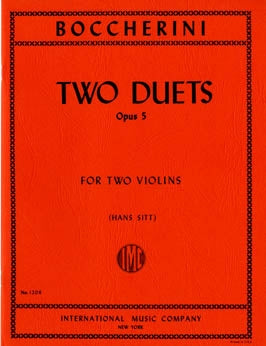 Boccherini, Luigi - Two (2) Duets, Opus 5 ed. Hans Sitt - Violin Ensemble Duet: Two (2) Violins - Parts Only