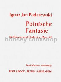 Paderewski, Ignas Jan - Polnische Fantasie, Opus 19 - Piano Ensemble (2 Pianos 4 Hands)