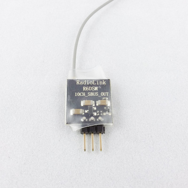 Radiolink R6DSM 2.4G 10CH DSSS FHSS Receiver for AT9 AT9S AT10 AT10Ⅱ PPM SBUS Output
