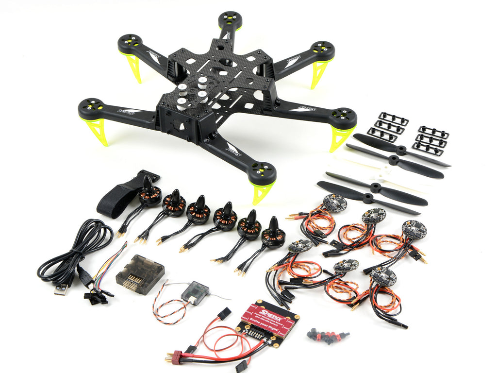 Spedix S250 Hex FPV Racer Drone  (Almost-ready-to-fly) Assembled Set