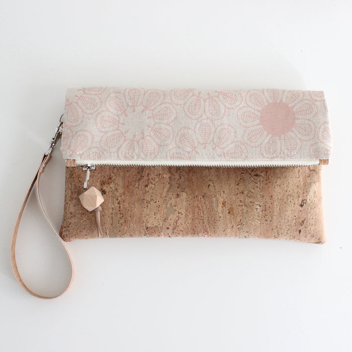 The Foldover Clutch Ficus Blush Pink