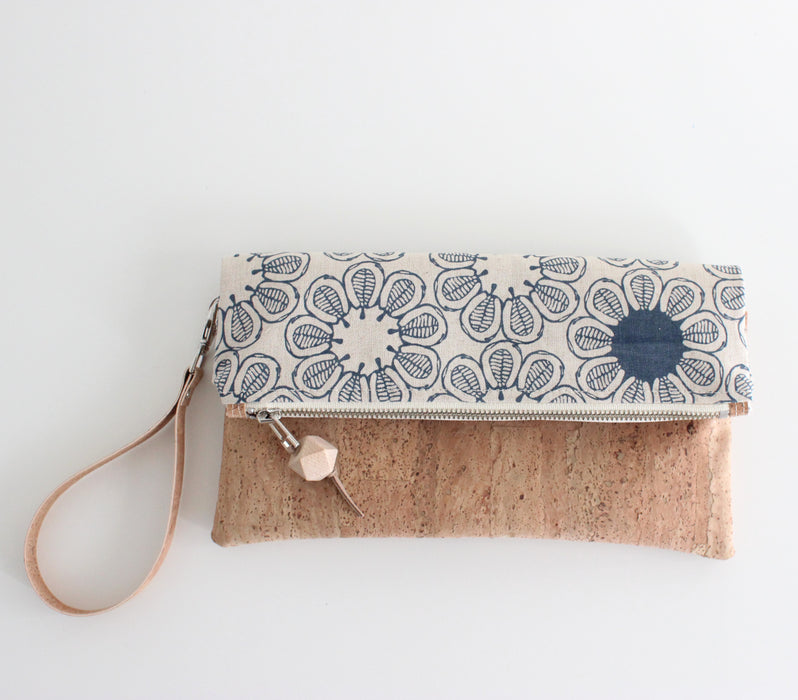 The Foldover Clutch Ficus Indigo