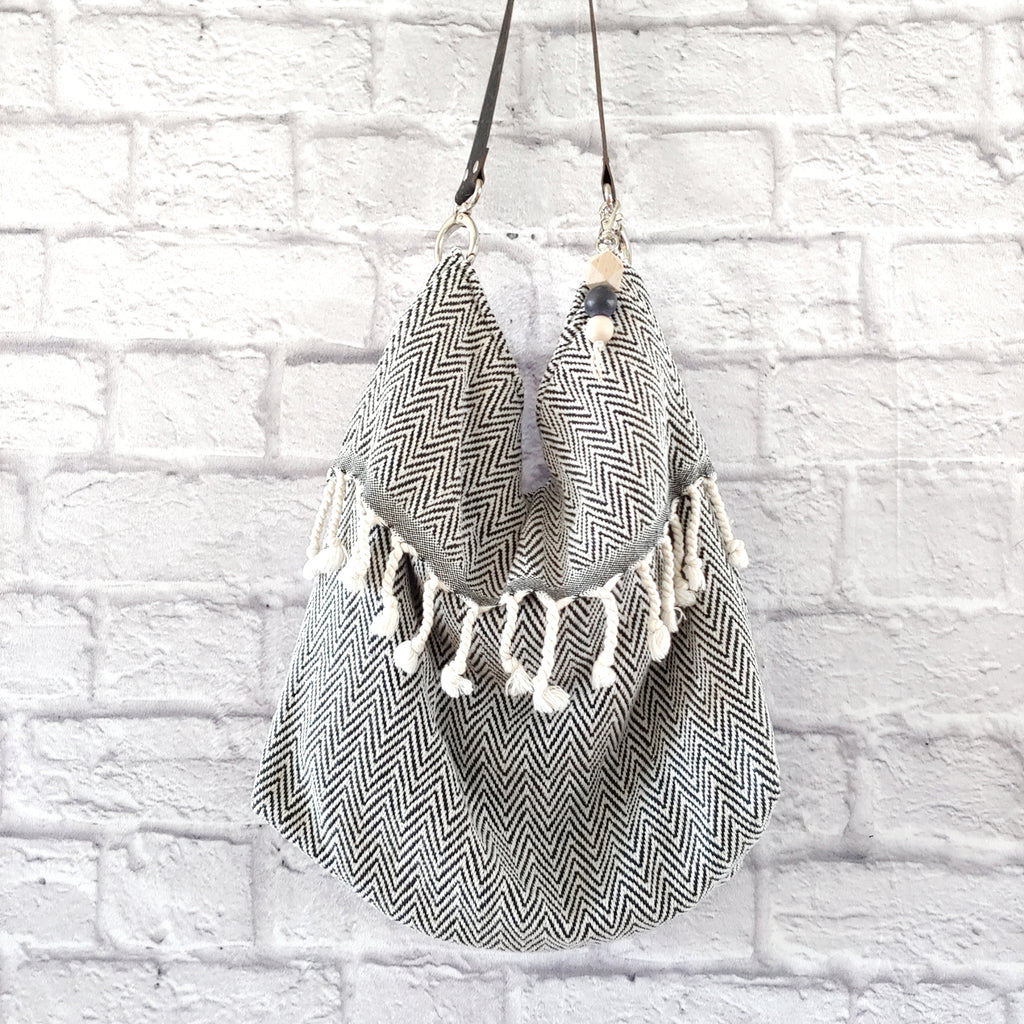 Fringe Grommet Bag (16 fabric choices)