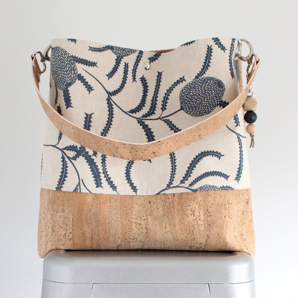 The Grommet Bag in Sawtooth Banksia Indigo