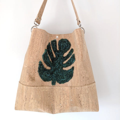 The Grommet Bag Punch Needle Monstera Leaf