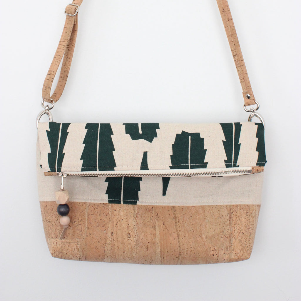 The Ziptop Foldover Crossbody Bag in Banksia Leaf Evergreen