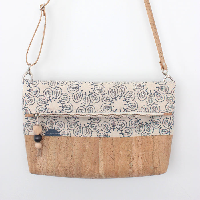 The Ziptop Foldover Crossbody Bag in Ficus Indigo