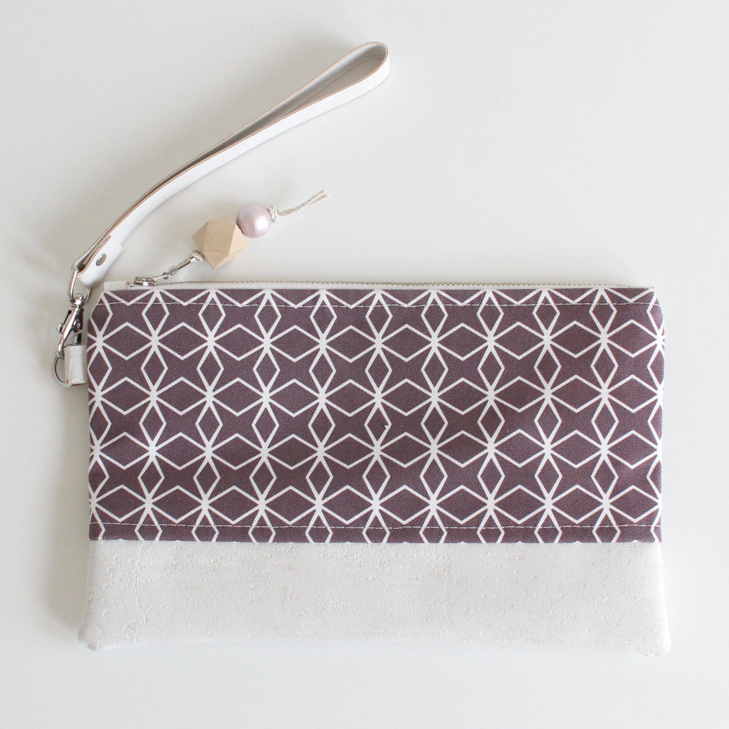 Clutch Geo Plum w/ White Cork