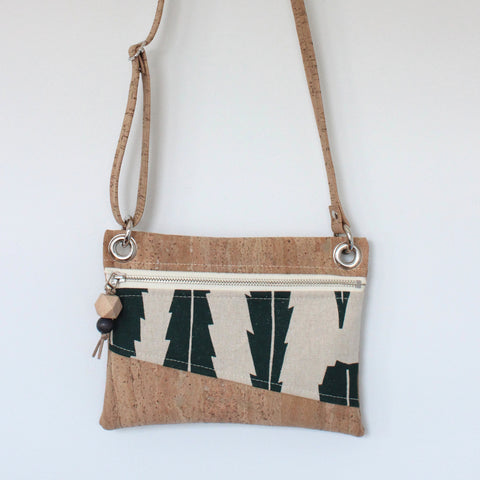 Mini Grommet Convertible Bag in Banksia Leaf Evergreen