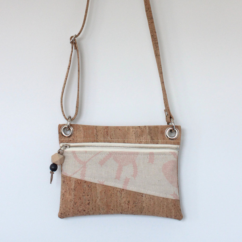 Mini Grommet Convertible Bag in Sawtooth Banksia Blush Pink