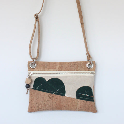 Mini Grommet Convertible Bag in Silver Dollar Gum Evergreen