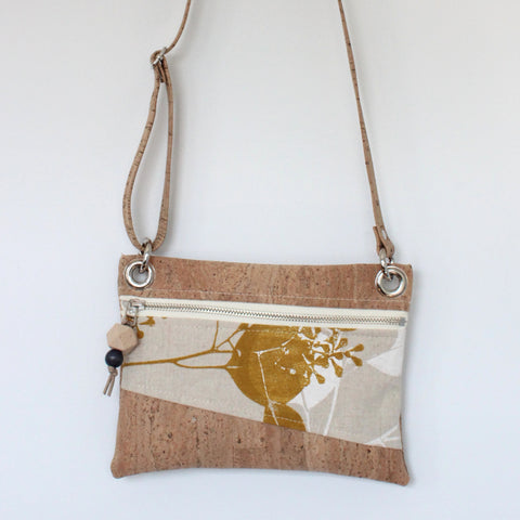 Mini Grommet Convertible Bag in Silver Dollar Gum Yellow Ocher