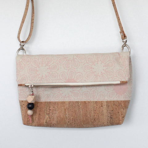 The Ziptop Foldover Crossbody Bag in Ficus Blush Pink