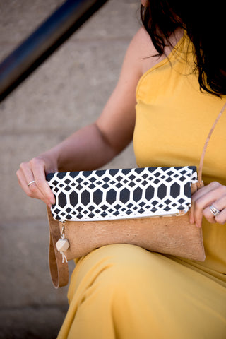 Foldover Clutch with Strap (8 fabric choices)