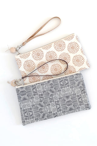 Small Clutch w/ Cork Back (13 fabric choices)