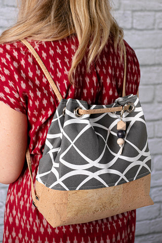 Convertible Grommet Bag (13 fabric choices, 2 all cork choices)