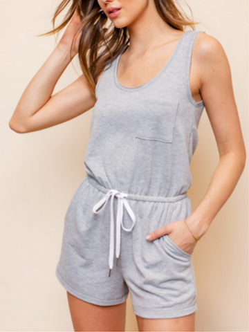 The Sporty Romper (Gray)