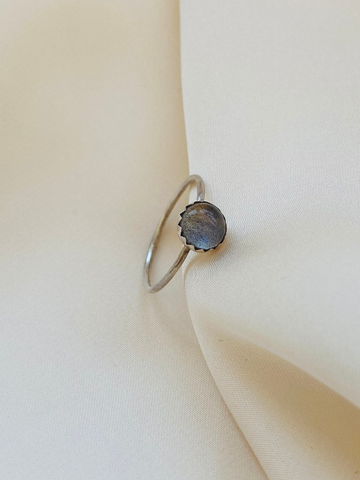 Stackable Labradorite Silver Ring