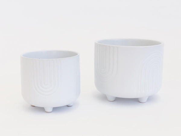 Rainbow White Set of Plant Pots