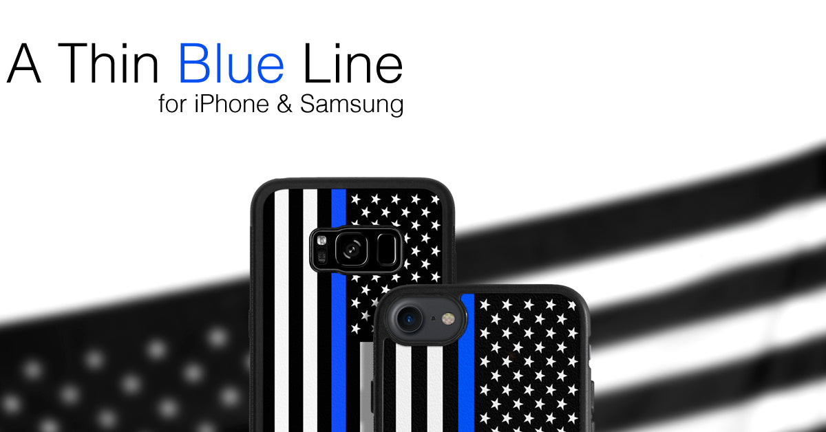 A Thin Blue Line Phone Case Cover for Apple iPhone iPod Samsung Galaxy S & Note