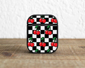Cherry Checkered Case for AirPods 1 / 2 / Pro