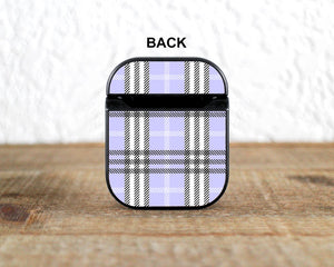Lavender Plaid Case for AirPods 1 / 2 / Pro