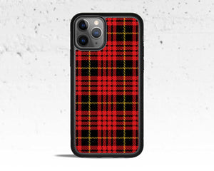 Red Plaid Phone Case for Apple iPhone