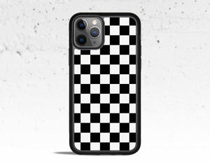 Black & White Checkered Phone Case for Apple iPhone