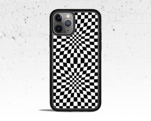 Warped Checkered Phone Case for Apple iPhone