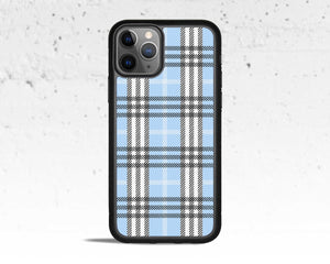 Blue Plaid Phone Case for Apple iPhone