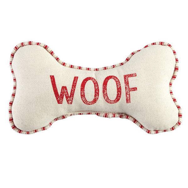 Plush Canvas Dog Bone