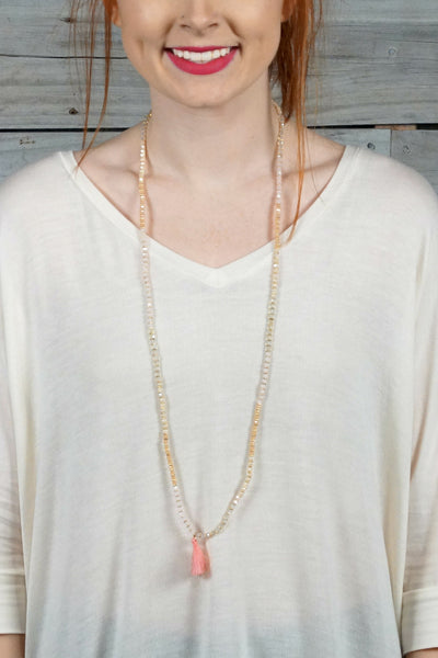 Pink Boho Duo Necklace