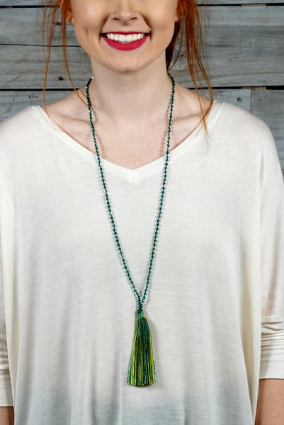 Green Flapper Tassel