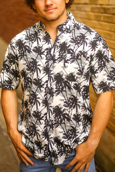 Palm Trees Button-Up