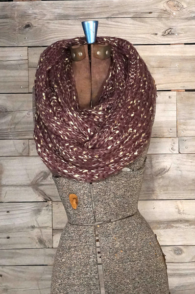 Purple and Gold Scarf