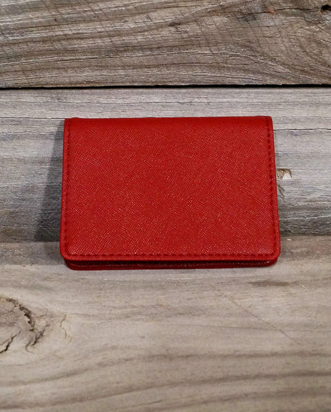 Small Red Card Holder