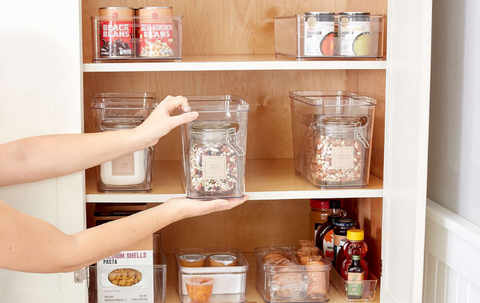 Kitchen Organization: Use Clear Containers & Labels