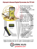 TPI 343 Digital Pyrometer w/ K-Type Thermocouple