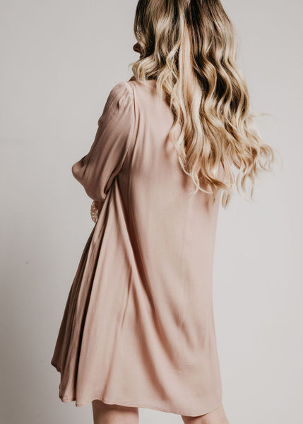 Belle Dress Mauve - Vinnie Louise